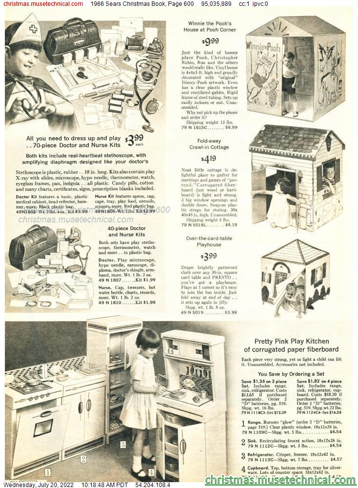 1966 Sears Christmas Book, Page 600
