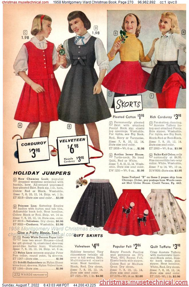1958 Montgomery Ward Christmas Book, Page 270