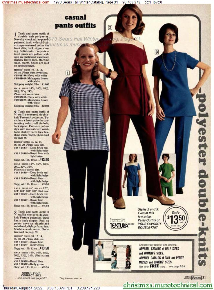 1973 Sears Fall Winter Catalog, Page 31