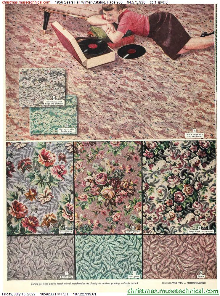 1956 Sears Fall Winter Catalog, Page 905