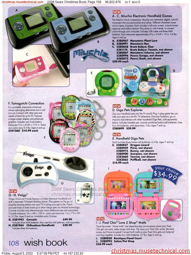 2006 Sears Christmas Book, Page 108