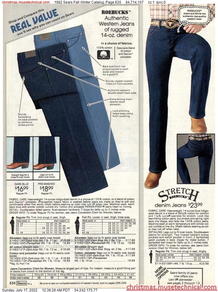 1982 Sears Fall Winter Catalog, Page 630