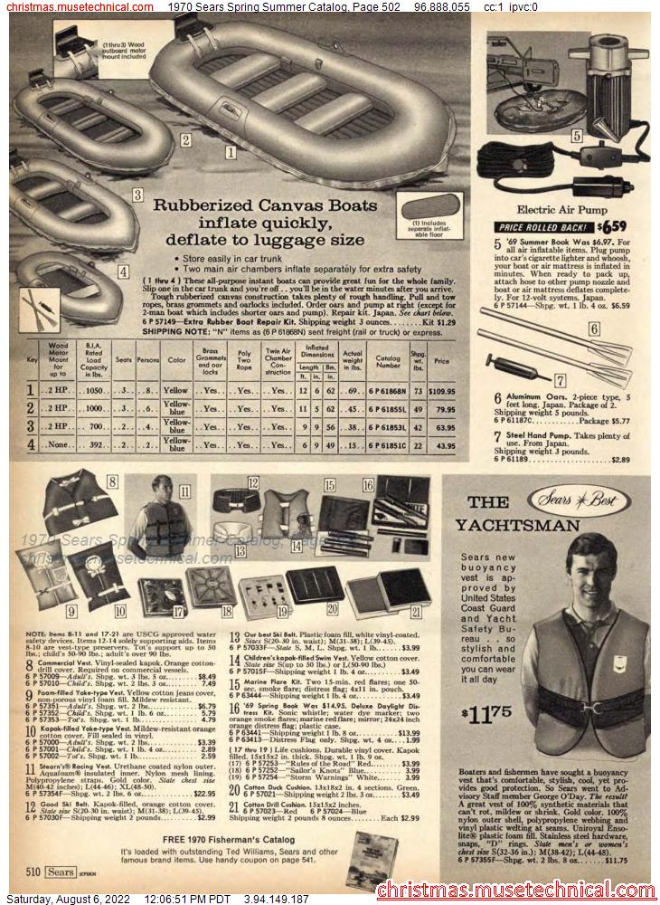 1970 Sears Spring Summer Catalog, Page 502