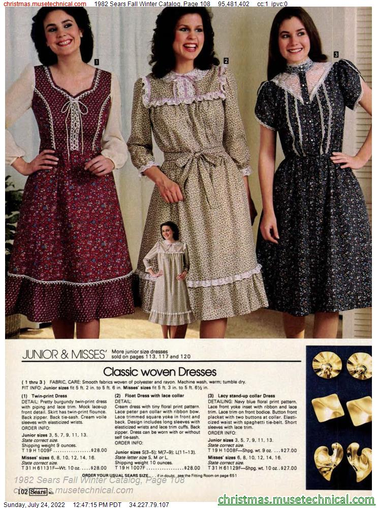 1982 Sears Fall Winter Catalog, Page 108