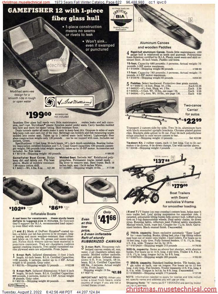 1973 Sears Fall Winter Catalog, Page 622
