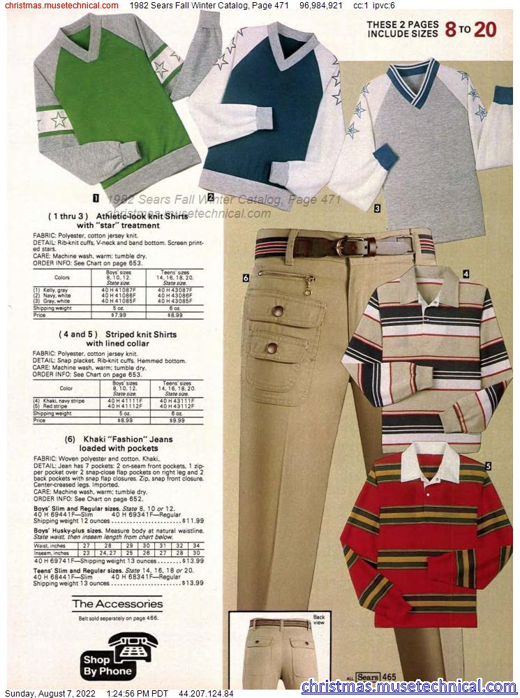 1982 Sears Fall Winter Catalog, Page 471