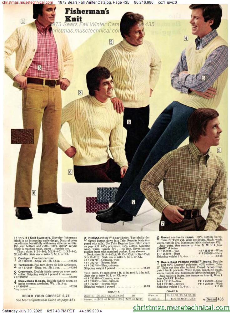 1973 Sears Fall Winter Catalog, Page 435