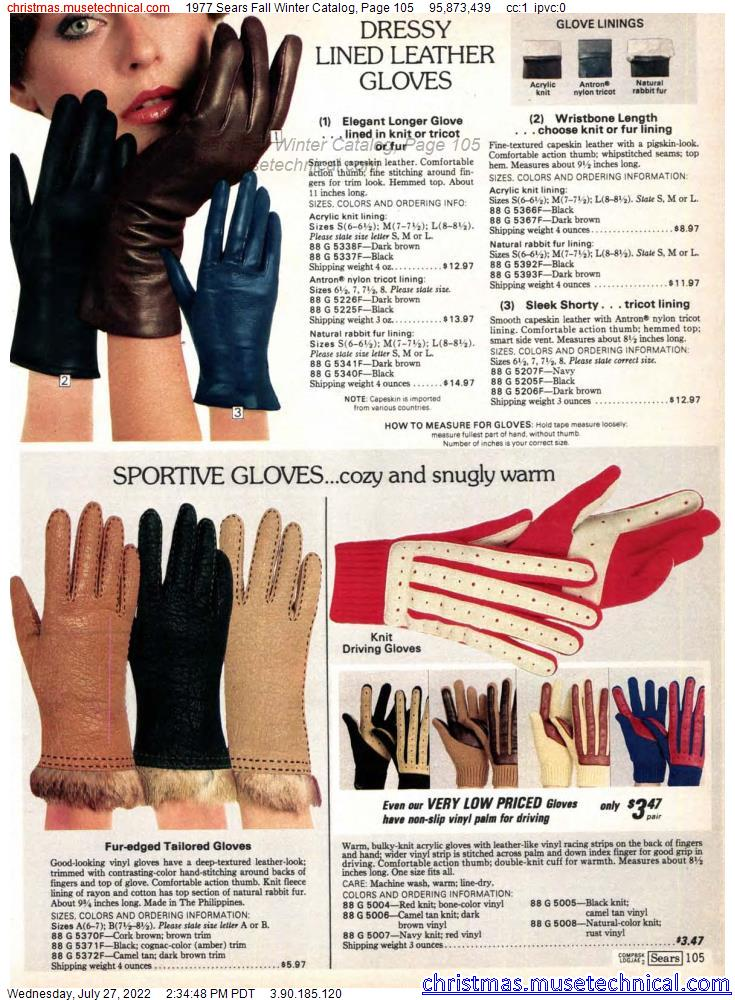 1977 Sears Fall Winter Catalog, Page 105