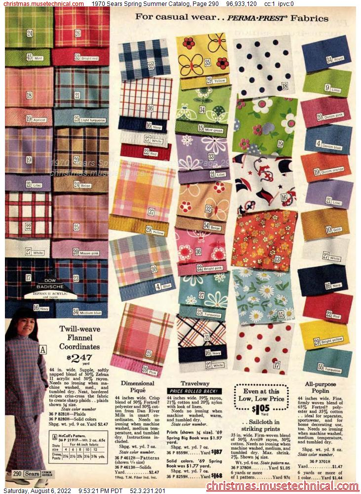 1970 Sears Spring Summer Catalog, Page 290