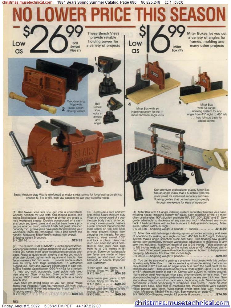 1984 Sears Spring Summer Catalog, Page 690