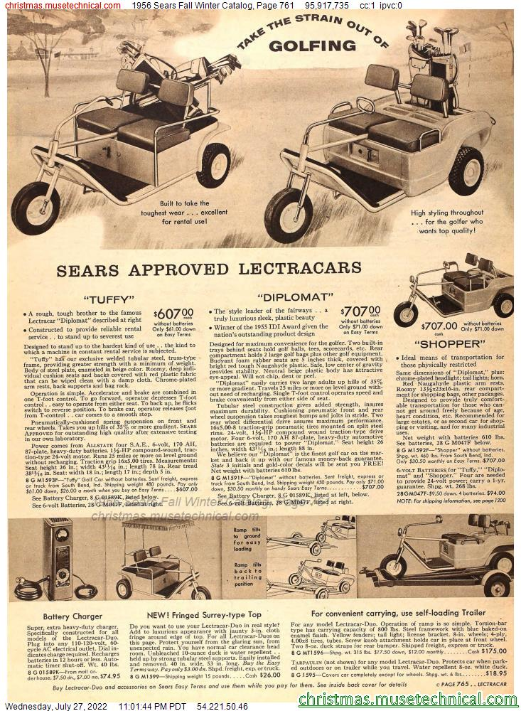 1956 Sears Fall Winter Catalog, Page 761