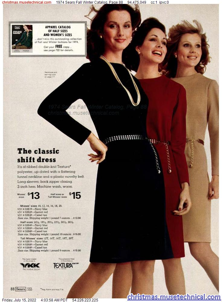 1974 Sears Fall Winter Catalog, Page 88