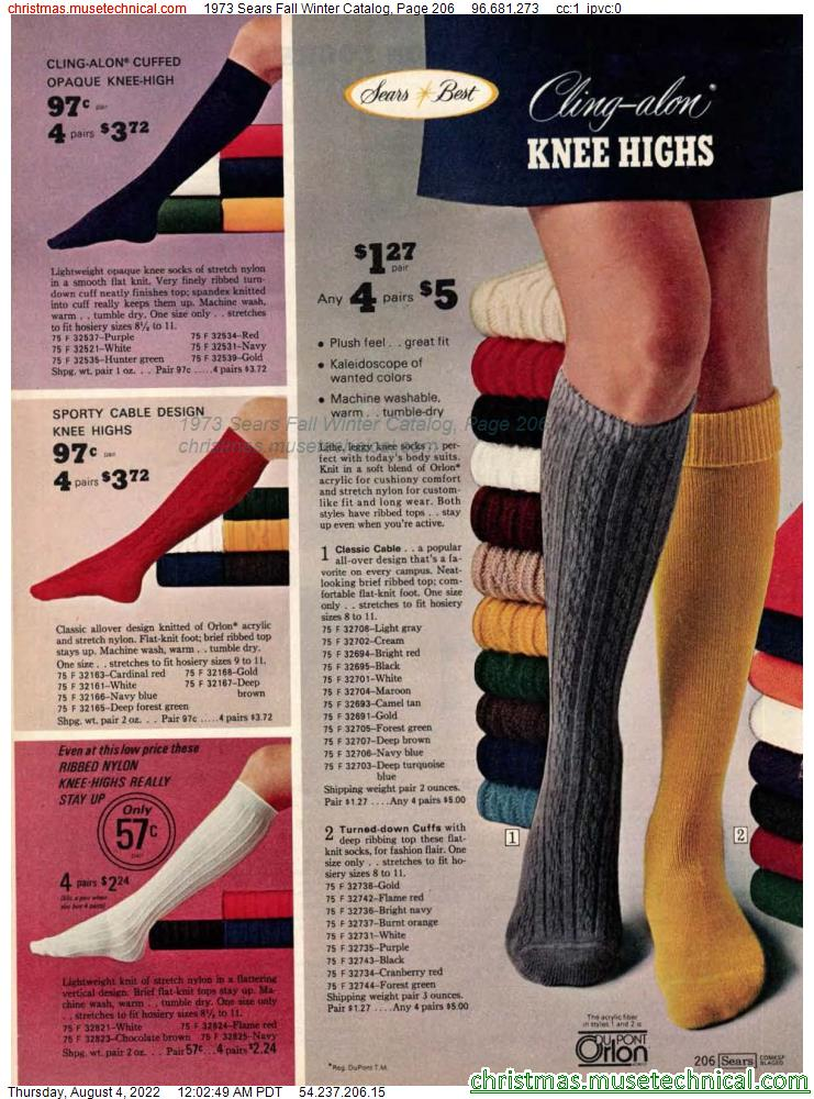 1973 Sears Fall Winter Catalog, Page 206