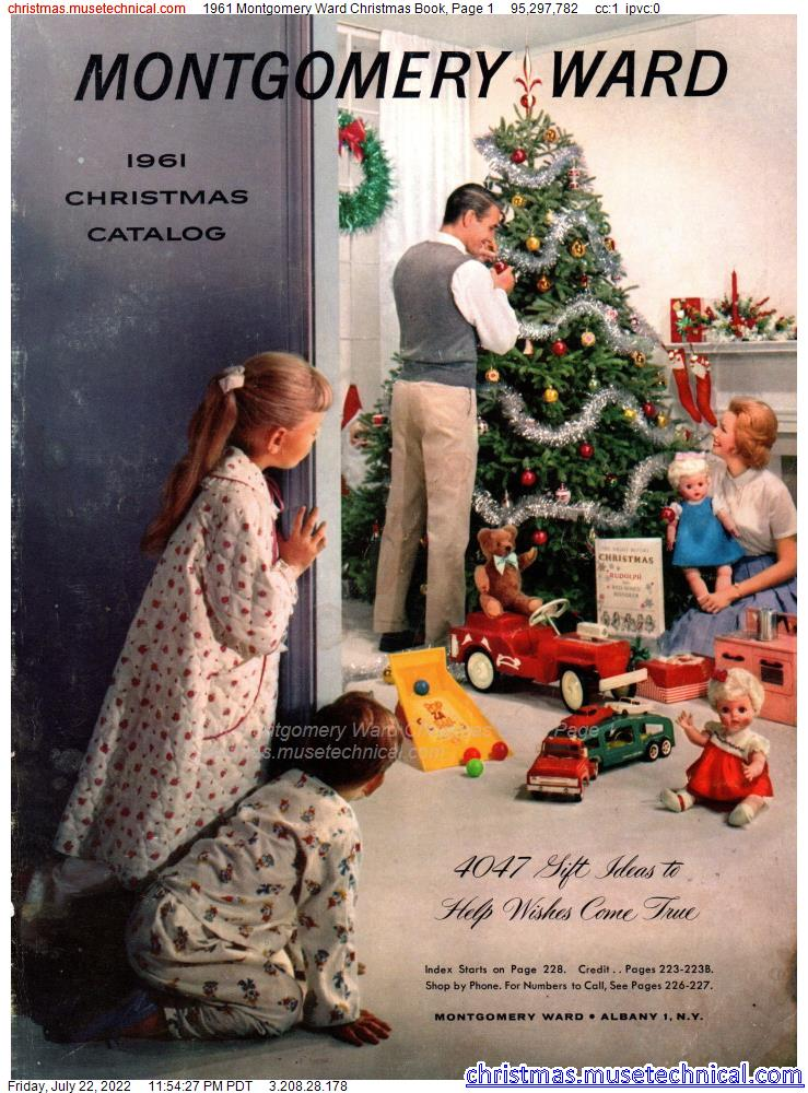 1961 Montgomery Ward Christmas Book, Page 1