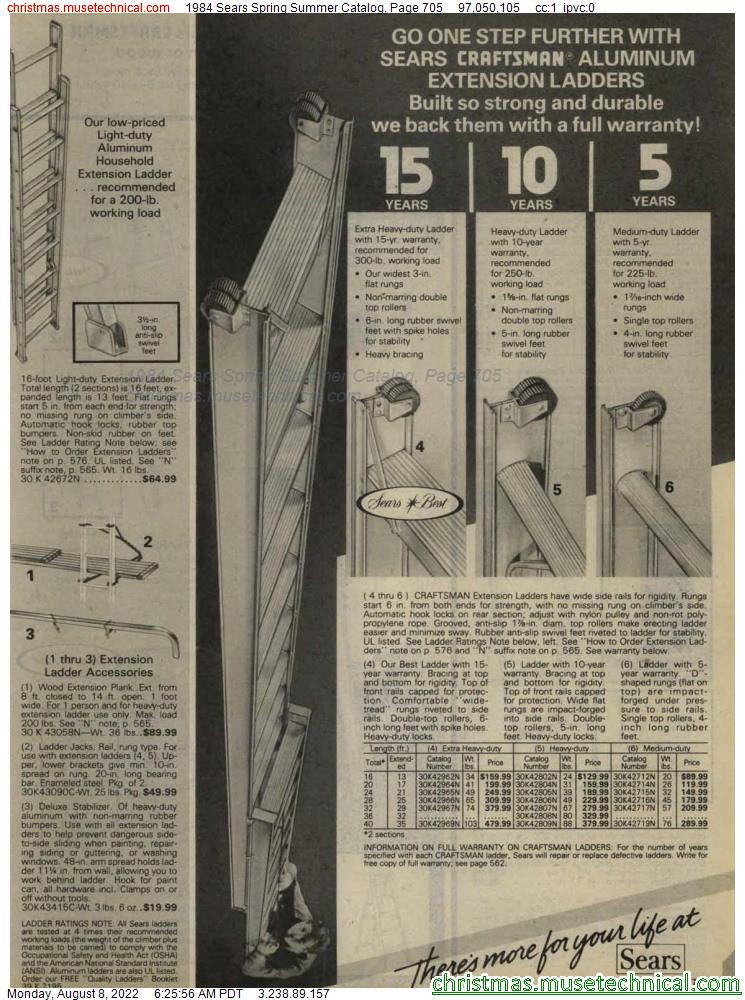1984 Sears Spring Summer Catalog, Page 705