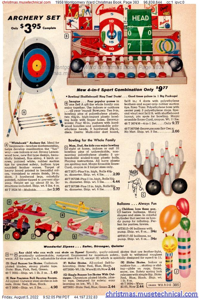 1958 Montgomery Ward Christmas Book, Page 383
