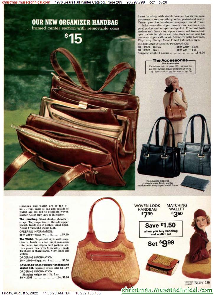 1976 Sears Fall Winter Catalog, Page 289