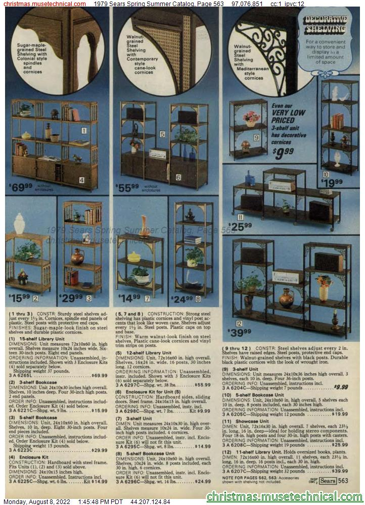 1979 Sears Spring Summer Catalog, Page 563