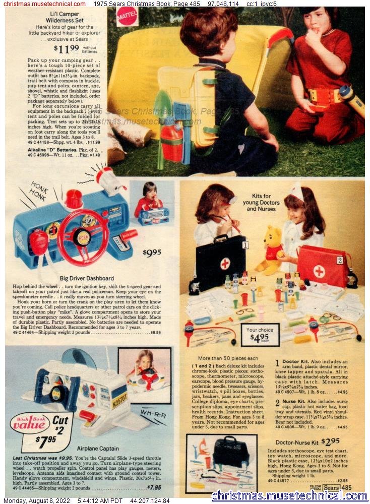 1975 Sears Christmas Book, Page 485