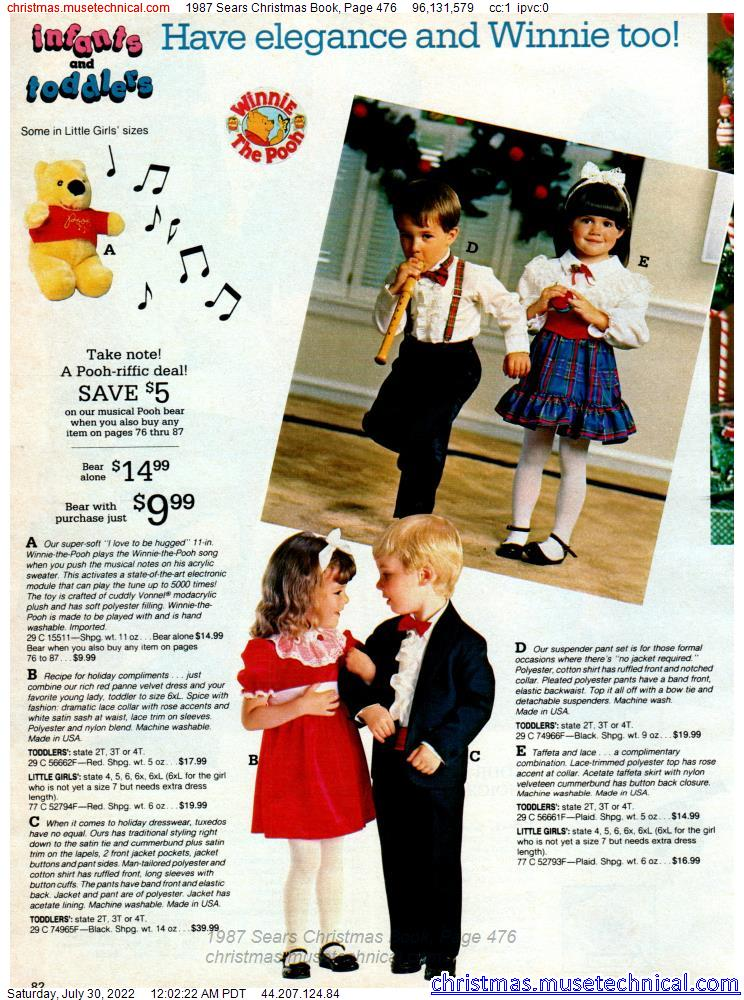 1987 Sears Christmas Book, Page 476