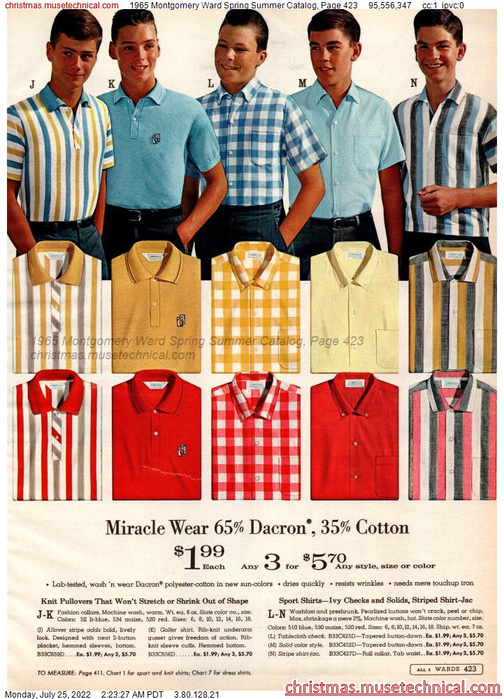 1965 Montgomery Ward Spring Summer Catalog, Page 423