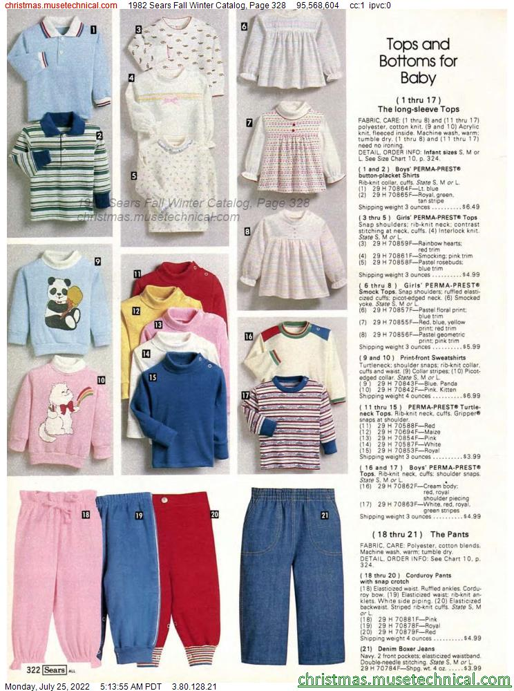 1982 Sears Fall Winter Catalog, Page 328