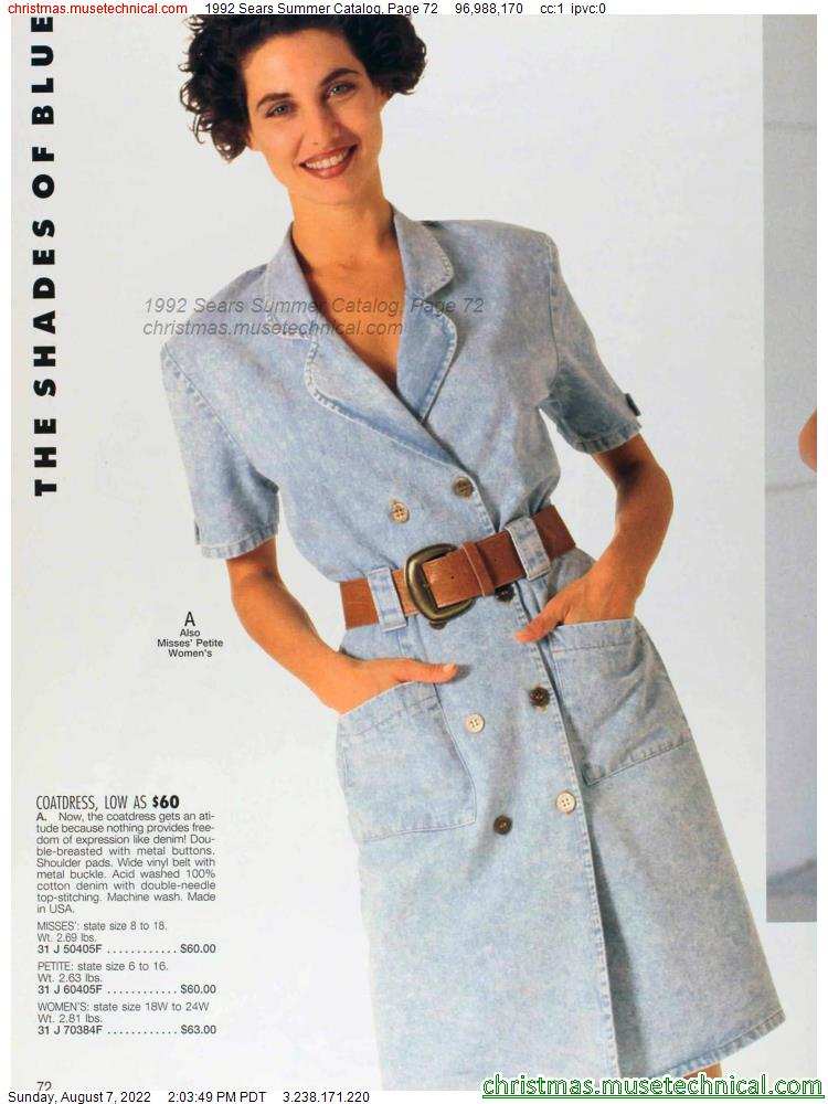 1992 Sears Summer Catalog, Page 72