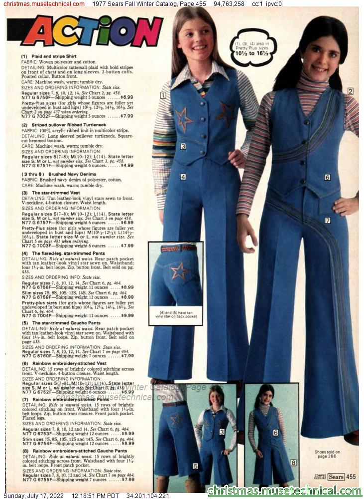 1977 Sears Fall Winter Catalog, Page 455