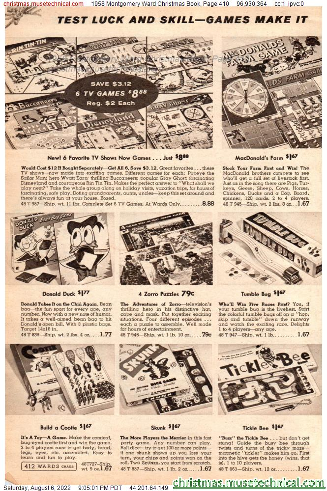 1958 Montgomery Ward Christmas Book, Page 410