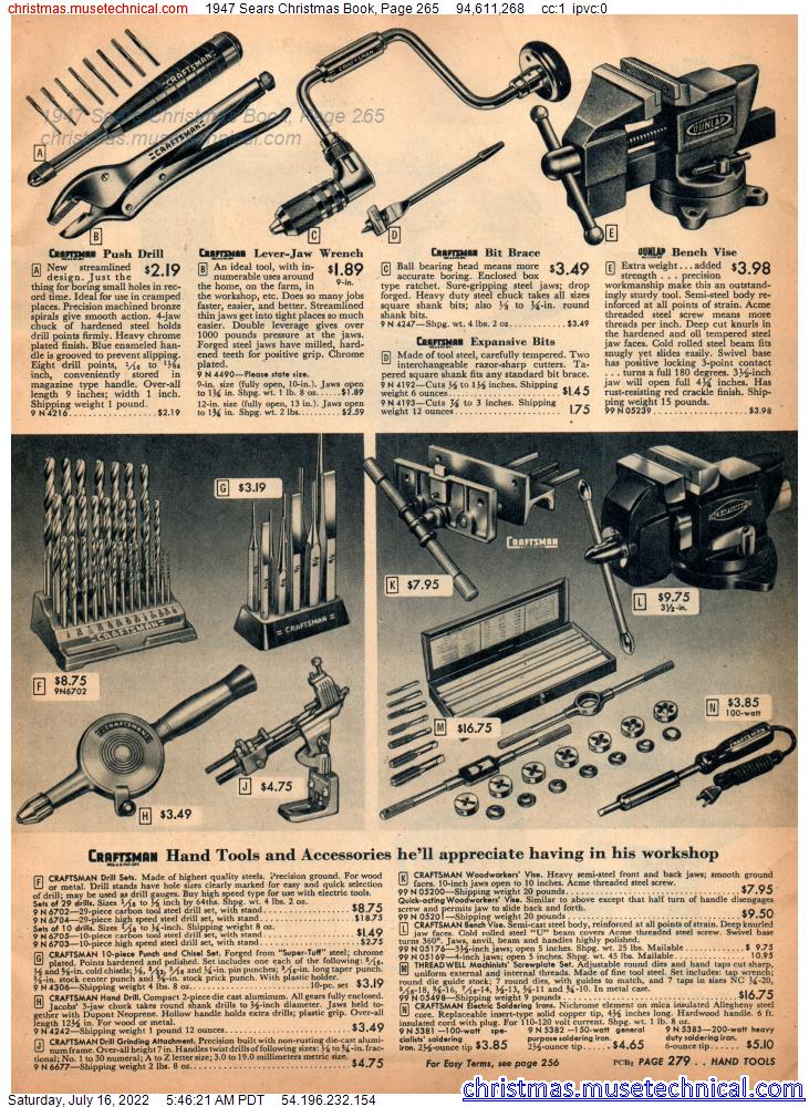 1947 Sears Christmas Book, Page 265