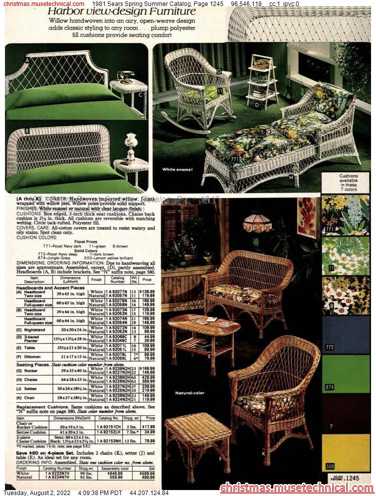 1981 Sears Spring Summer Catalog, Page 1245