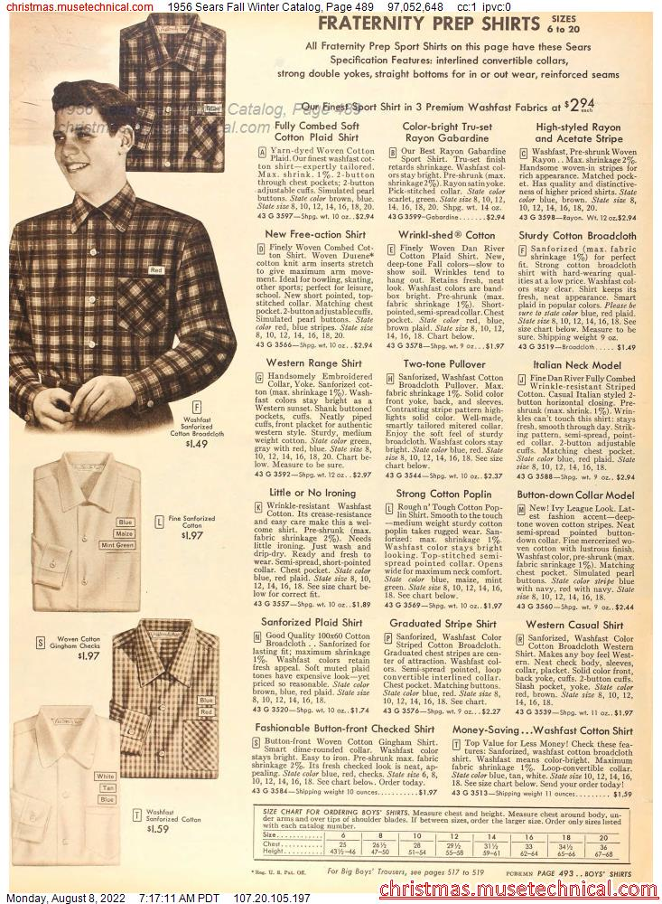 1956 Sears Fall Winter Catalog, Page 489