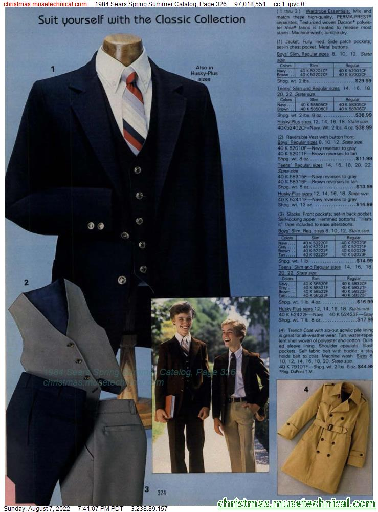 1984 Sears Spring Summer Catalog, Page 326