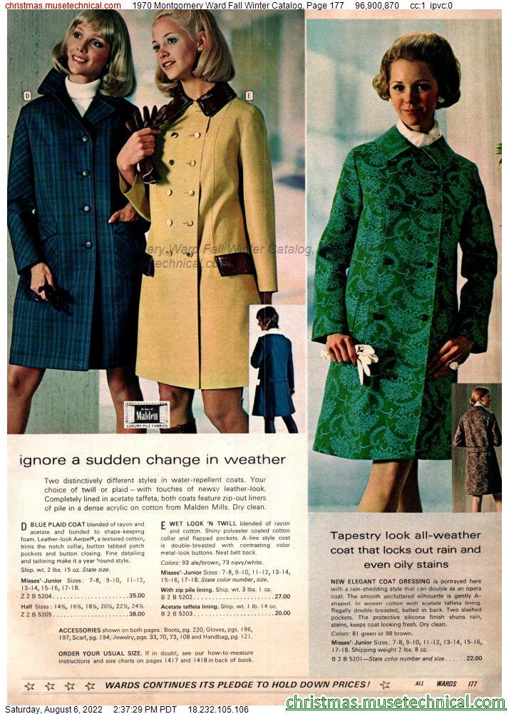 1970 Montgomery Ward Fall Winter Catalog, Page 177