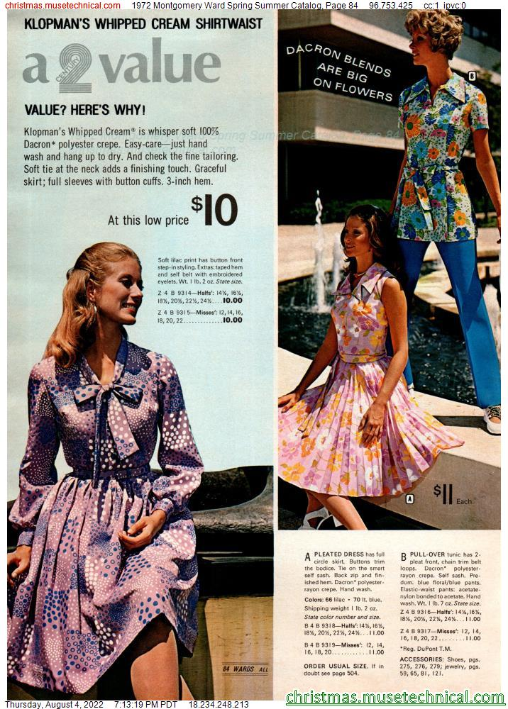 1972 Montgomery Ward Spring Summer Catalog, Page 84