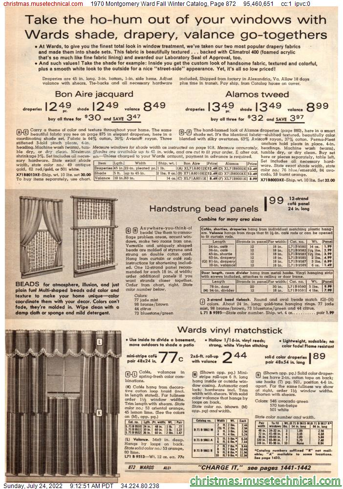1970 Montgomery Ward Fall Winter Catalog, Page 872