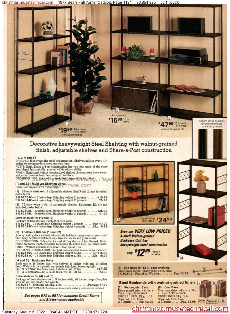1977 Sears Fall Winter Catalog, Page 1181