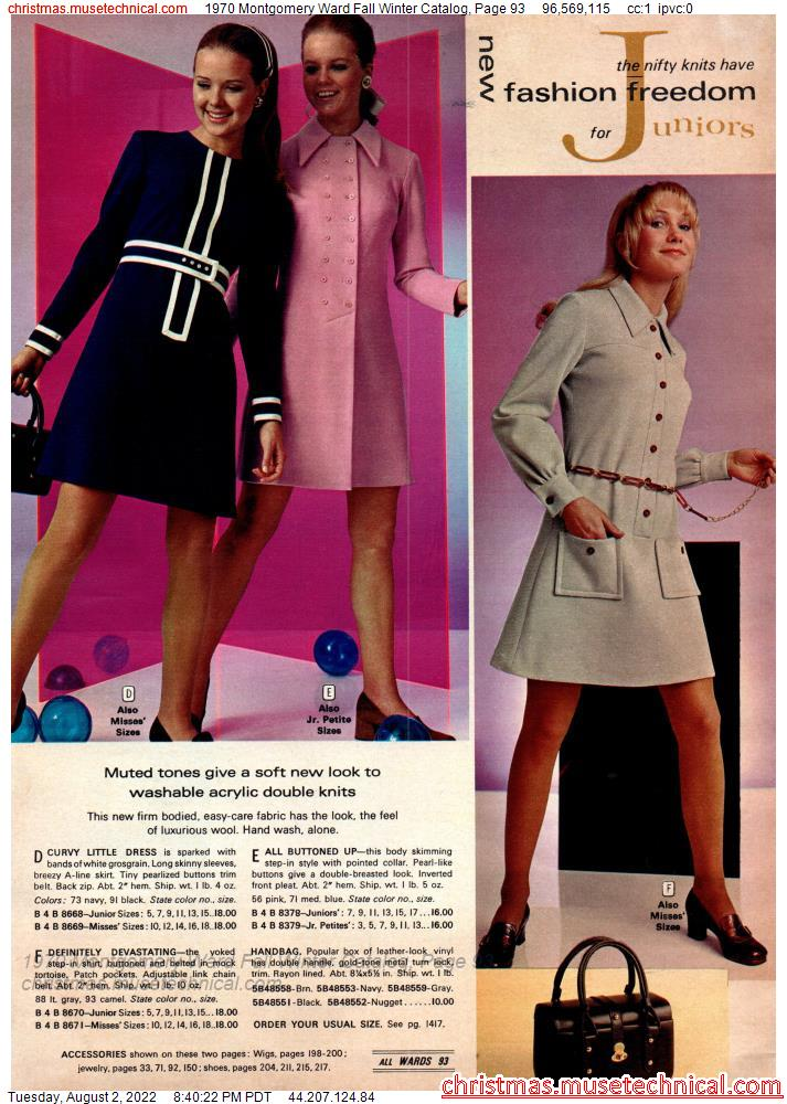 1970 Montgomery Ward Fall Winter Catalog, Page 93