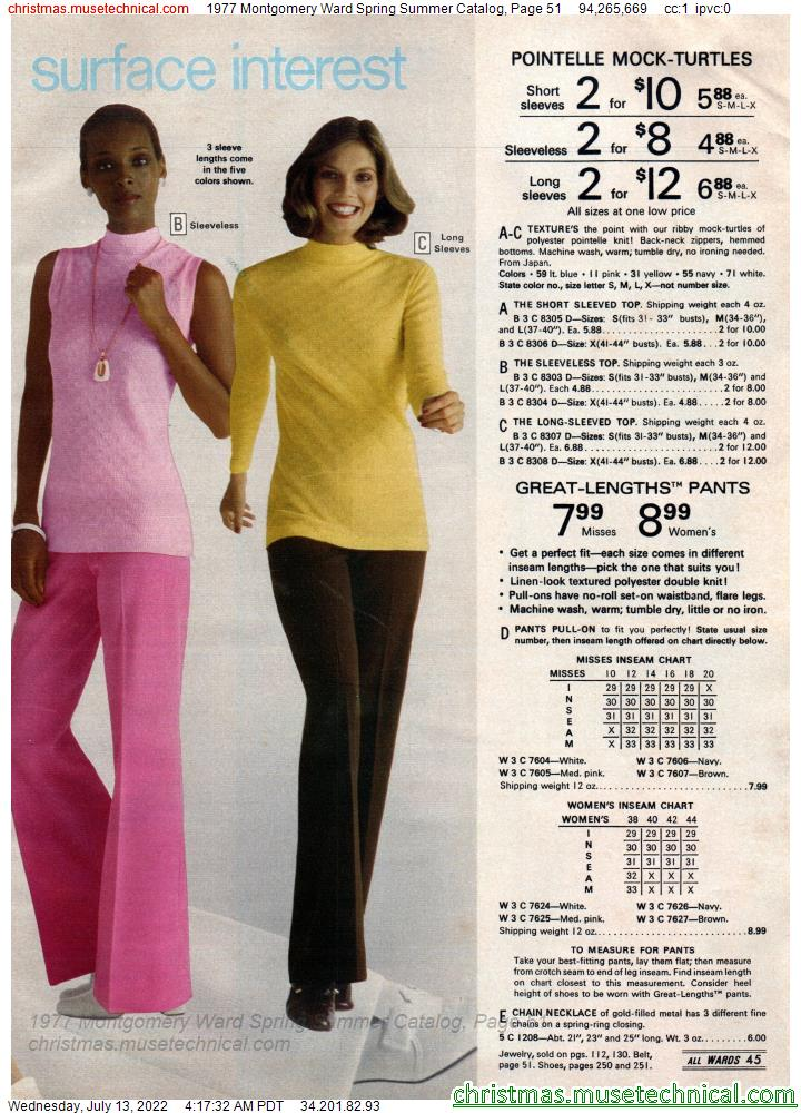 1977 Montgomery Ward Spring Summer Catalog, Page 51