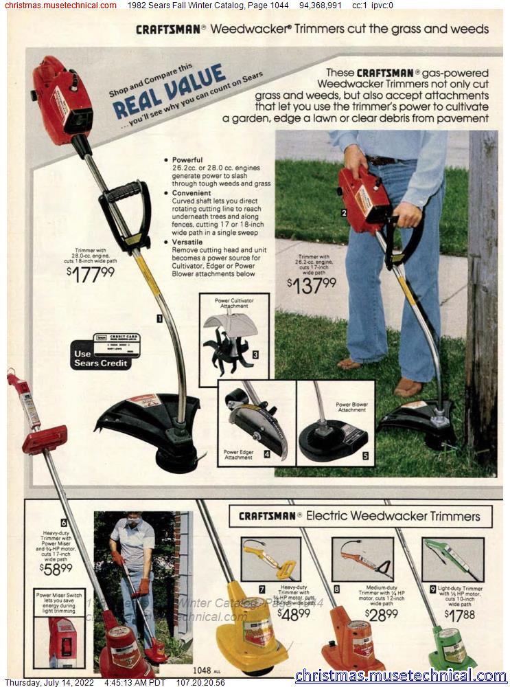 1982 Sears Fall Winter Catalog, Page 1044