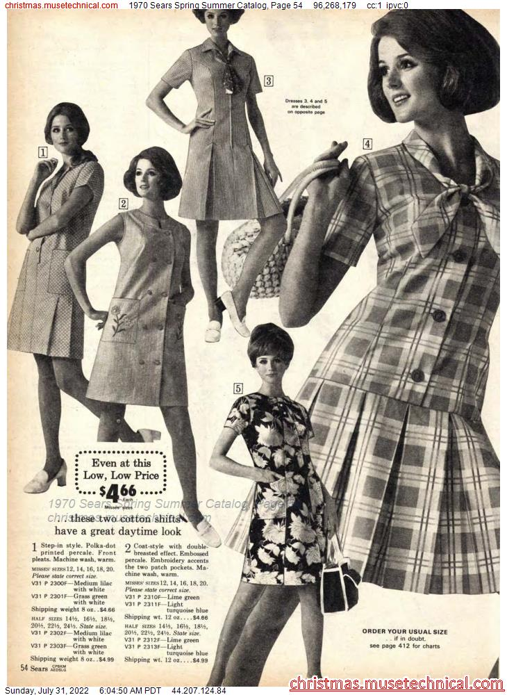 1970 Sears Spring Summer Catalog, Page 54