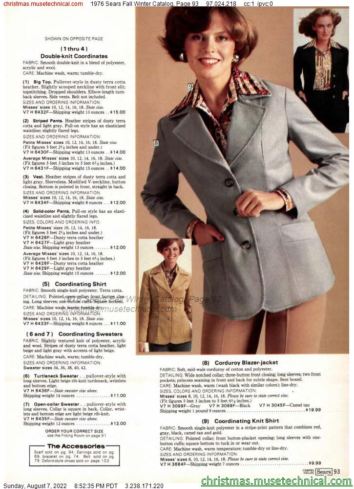 1976 Sears Fall Winter Catalog, Page 93