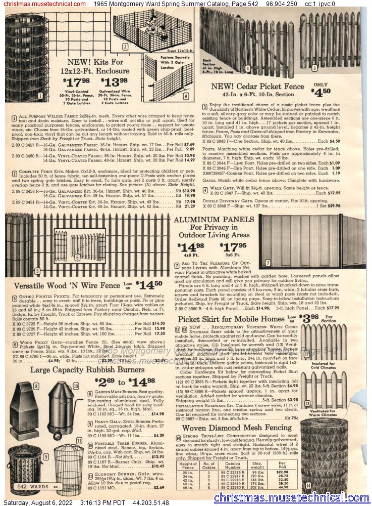 1965 Montgomery Ward Spring Summer Catalog, Page 542