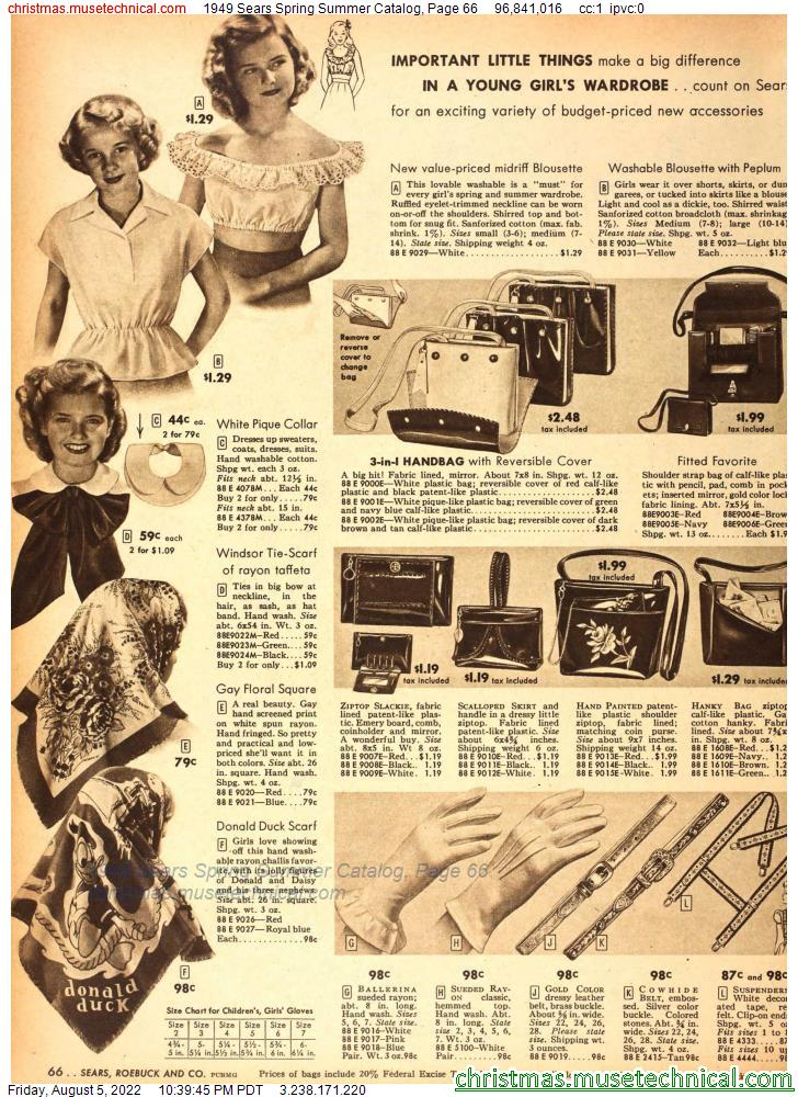 1949 Sears Spring Summer Catalog, Page 66