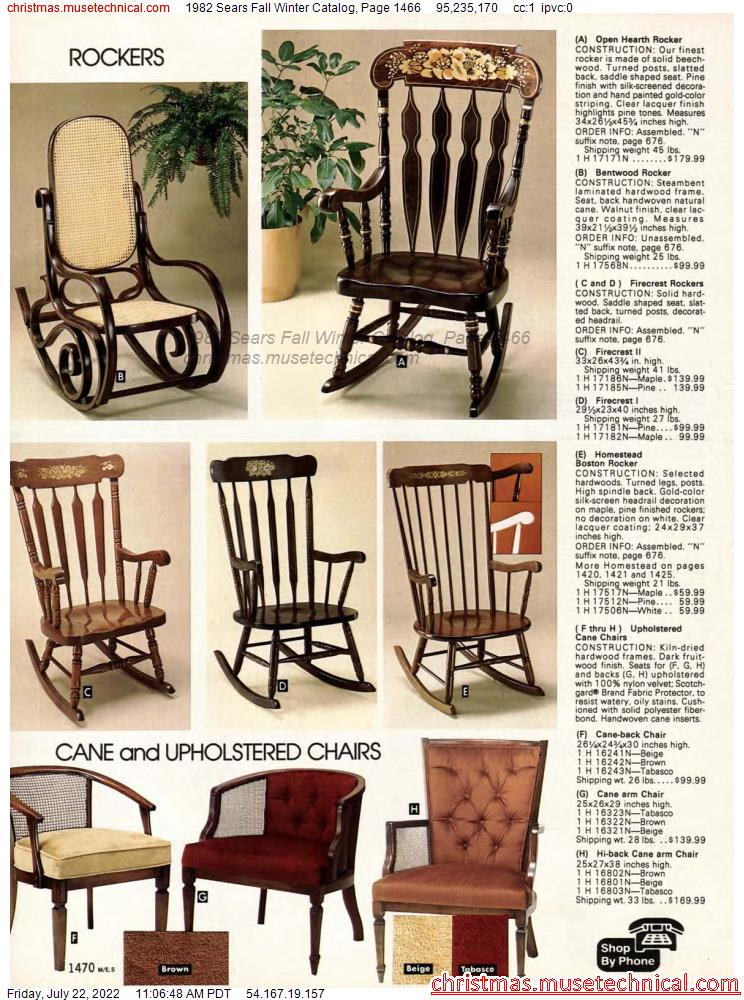 1982 Sears Fall Winter Catalog, Page 1466