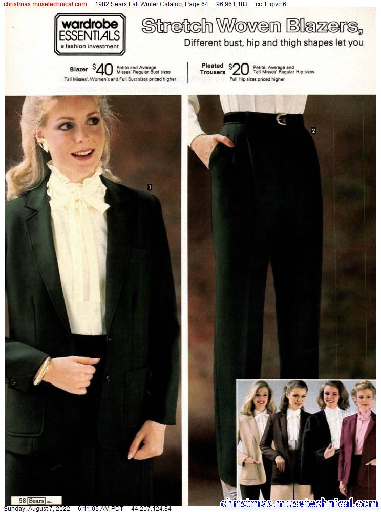 1982 Sears Fall Winter Catalog, Page 64