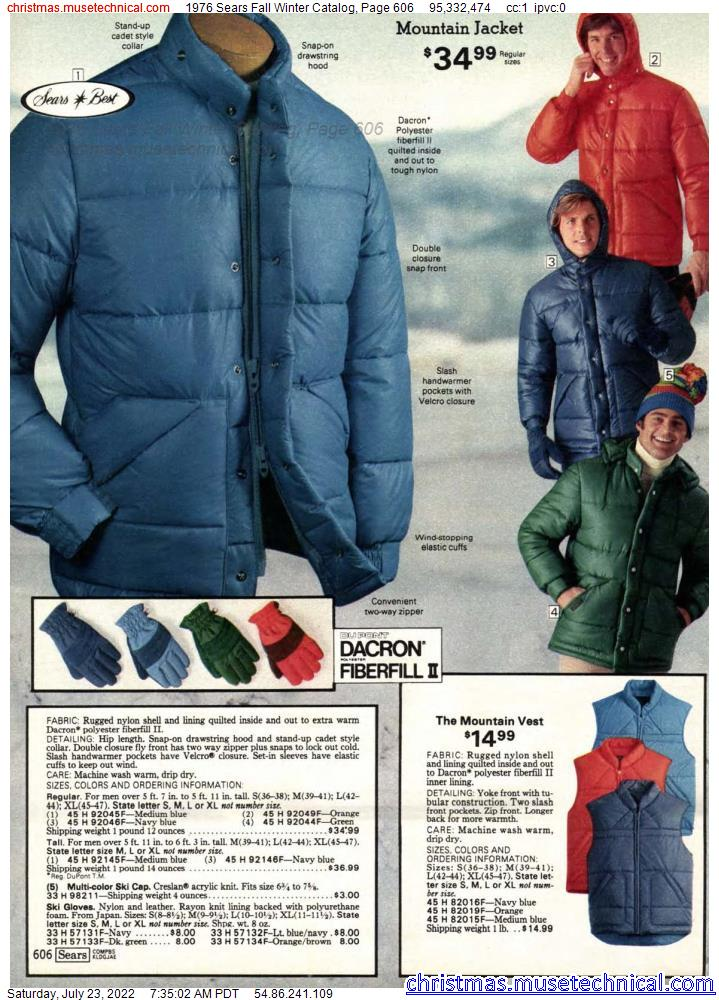 1976 Sears Fall Winter Catalog, Page 606