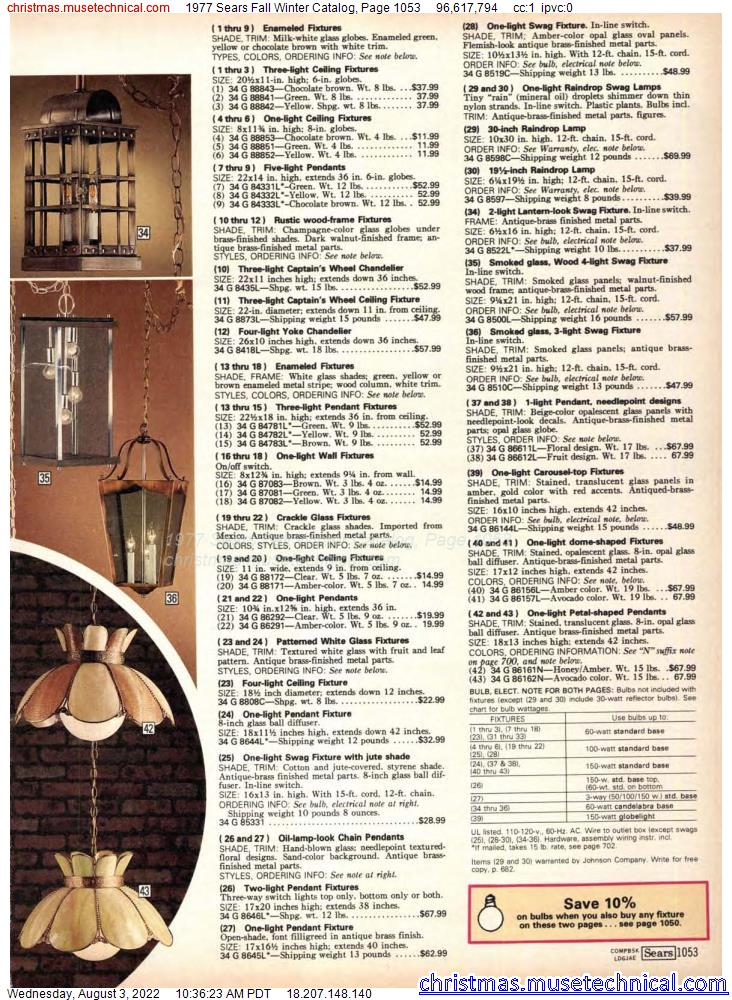 1977 Sears Fall Winter Catalog, Page 1053