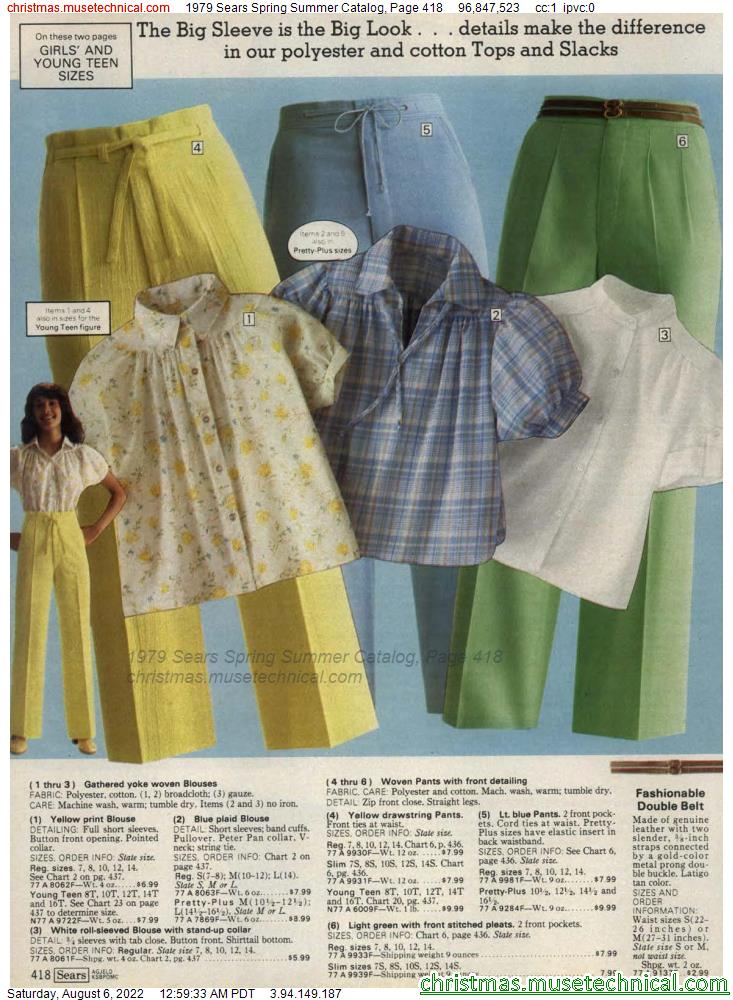 1979 Sears Spring Summer Catalog, Page 418