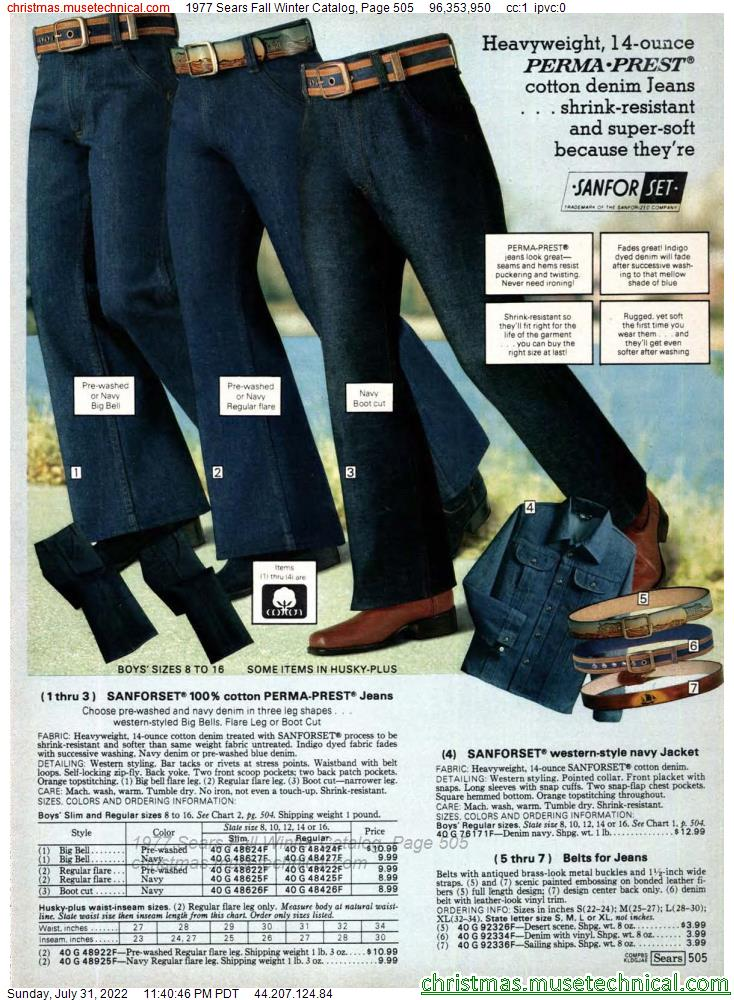 1977 Sears Fall Winter Catalog, Page 505